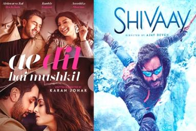 Ae Dil Hai Mushkil and Shivaay Three Days Collections